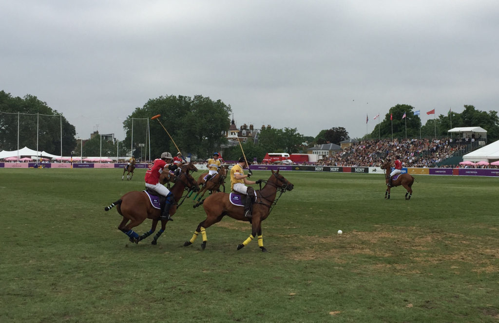 Polo in the park.