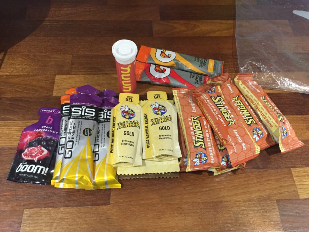 I need a lot of energy to get through a race, I consumed most of this during the but not all the Stinger bars.